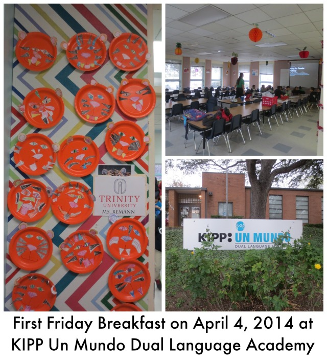 First Friday Breakfast on April 4, 2014 at KIPP Un Mundo Dual Language Academy | San Antonio Charter Moms