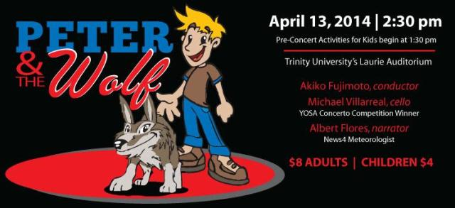 Win tickets to Peter and the Wolf - San Antonio Symphony - April 13, 2014   San Antonio Charter Moms