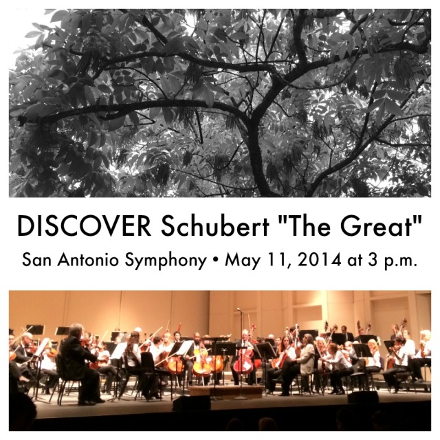 "DISCOVER Schubert ""Great"" May 11, 2014 with San Antonio Symphony | San Antonio Charter Moms"