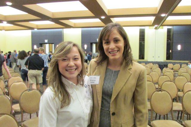 Emily Sarbacker, Glendale Prep student, and Briana Rafidi, alumna   San Antonio Charter Moms