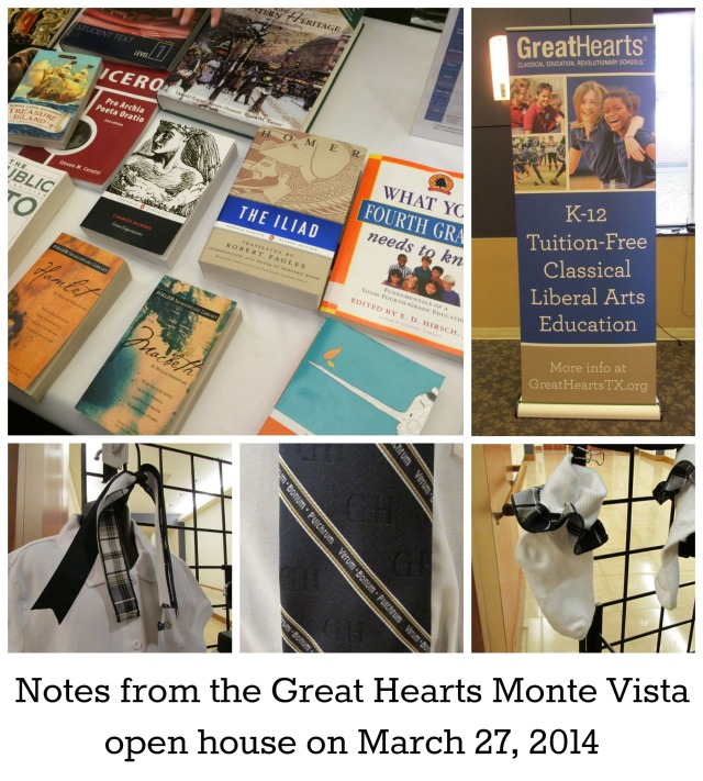 Notes from the Great Hearts Monte Vista open house | San Antonio Charter Moms