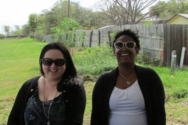 Robin Martin and Dr. Abigail Hasberry at BASIS San Antonio North groundbreaking | San Antonio Charter Moms