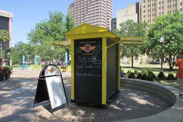 Kiosk at Travis Park | San Antonio Charter Moms