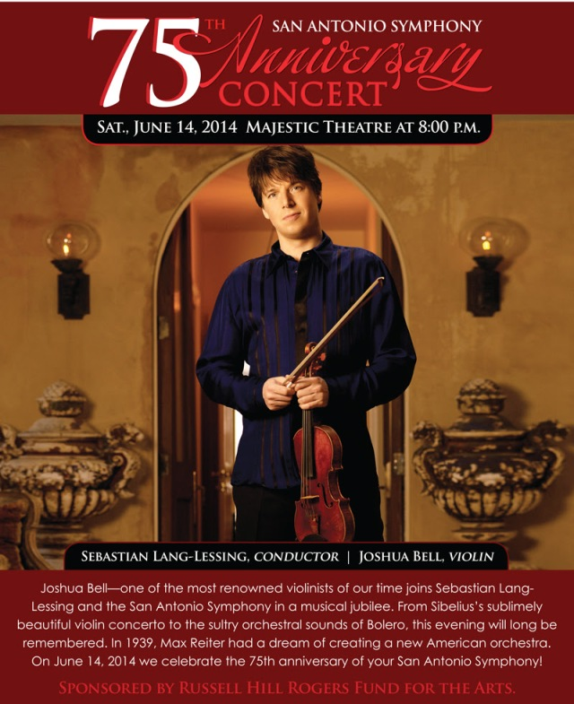Joshua Bell at the San Antonio Symphony 75th Anniversary Concert and Celebration | San Antonio Charter Moms