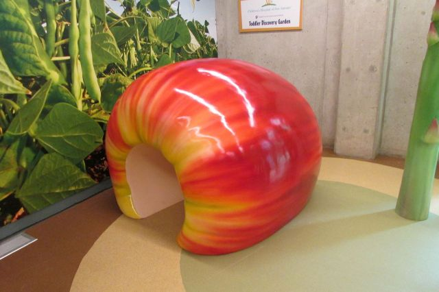 Fruit and veggie playground for young children at H-E-B Body Adventure at the Witte Museum | San Antonio Charter Moms