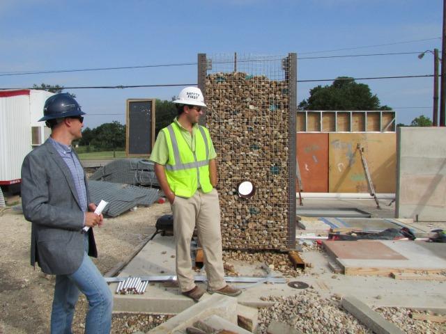 Architect Sam Vonderau of Lake Flato and builder Cosmo Guido at The Do Seum | San Antonio Charter Moms