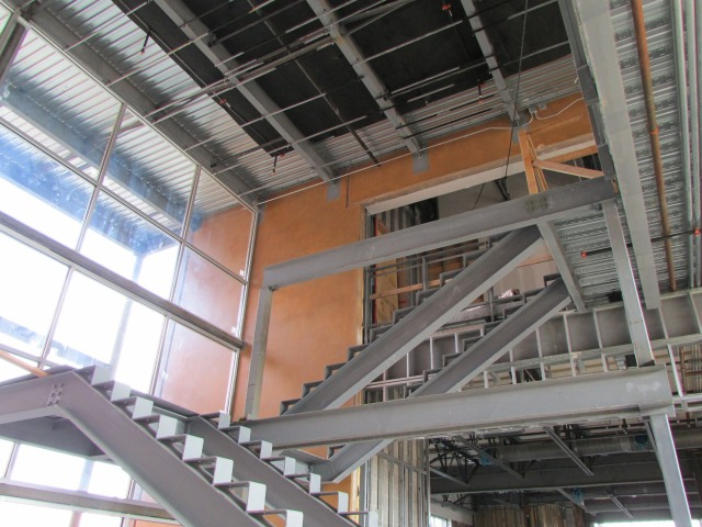 Stairs in the connector space at the The Do Seum | San Antonio Charter Moms
