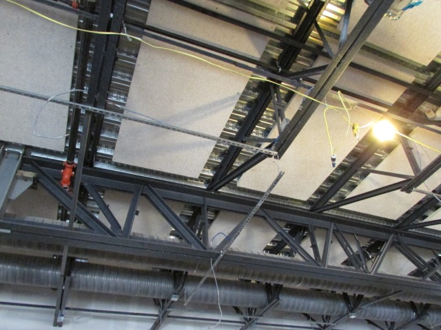 Acoustic ceiling panels at The Do Seum | San Antonio Charter Moms