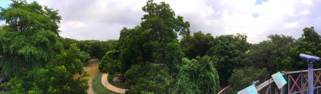 View of Brackenridge Park and the San Antonio River from the rooftop of the H-E-B Body Adventure at the Witte Museum | San Antonio Charter Moms