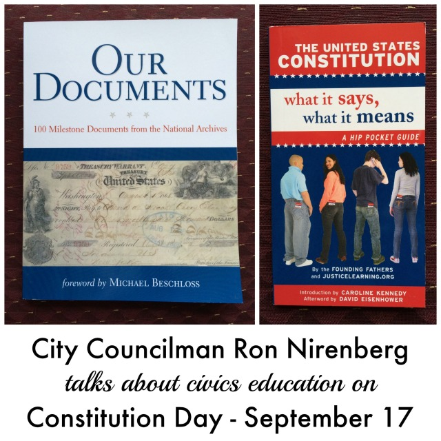 City Councilman talks about civics education on Constitution Day, September 17| San Antonio Charter Moms