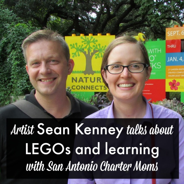 Artist Sean Kenney talks about LEGOs and learning | San Antonio Charter Moms