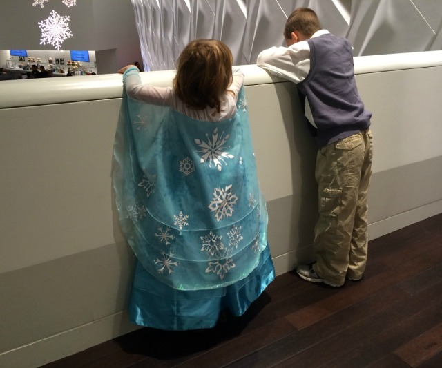 GN wore her Elsa dress to hear music from Frozen at Holiday Pops with the San Antonio Symphony | San Antonio Charter Moms
