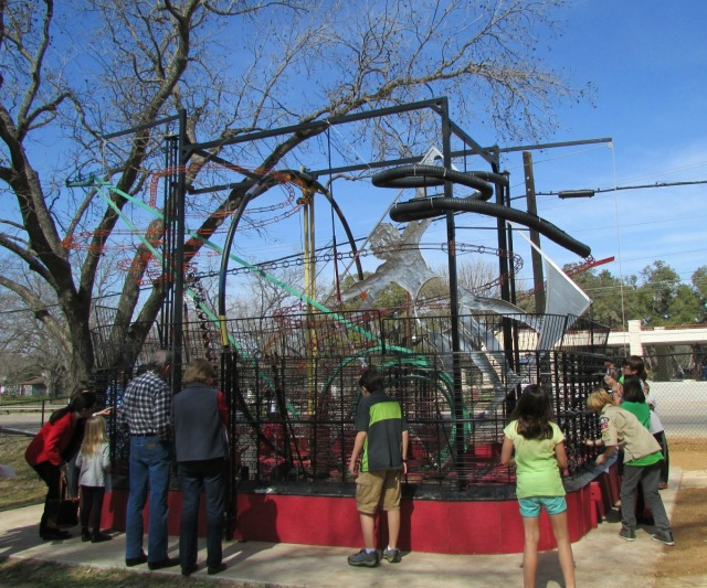Hill Country Science Mill kinetic sculpture | San Antonio Charter Moms