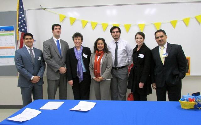 Marisa B. Perez with charter school partners | San Antonio Charter Moms
