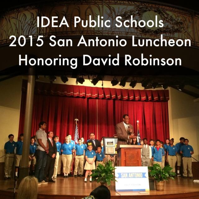 IDEA Public Schools 2015 San Antonio luncheon honoring David Robinson | San Antonio Charter Moms