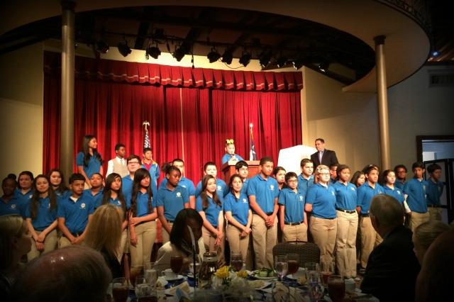 IDEA Public Schools students at the luncheon honoring David Robinson | San Antonio Charter Moms