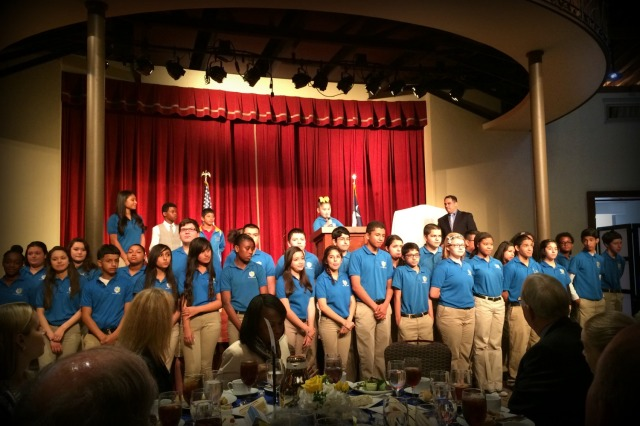 IDEA Public Schools students at the luncheon honoring David Robinson | San Antonio Charter Moms