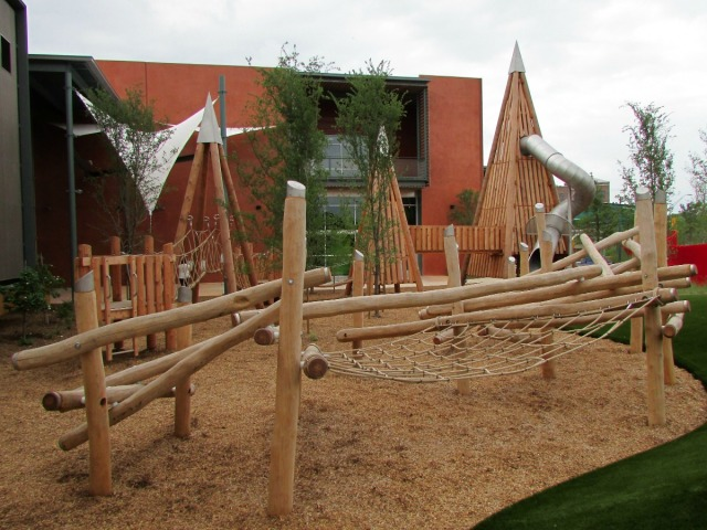 The DoSeum Big Outdoors playscape west yard | San Antonio Charter Moms