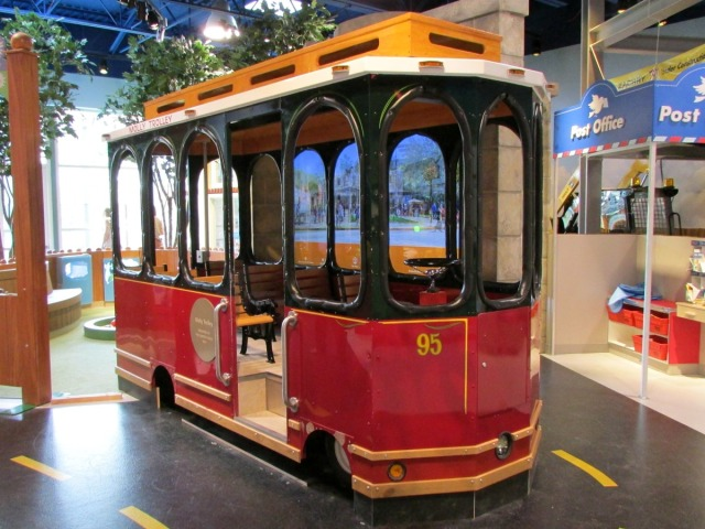 The DoSeum Little Town Molly Trolley | San Antonio Charter Moms
