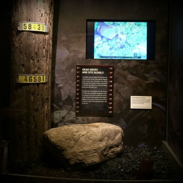 Dead drop rock from Operation Ghost Stories , Illegals Program -- Spy: The Exhibit | San Antonio Charter Moms