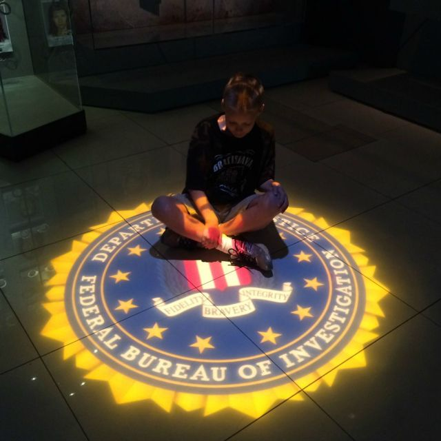 FBI seal at Spy: The Exhibit | San Antonio Charter Moms