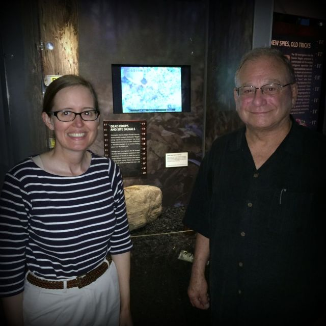 Inga Cotton and H. Keith Melton at Spy: The Exhibit | San Antonio Charter Moms
