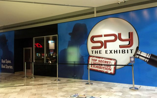 Entrance to Spy: The Exhibit at Rivercenter Mall | San Antonio Charter Moms