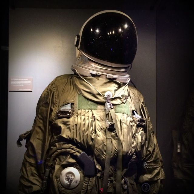 U2 pilot's pressure suit -- Spy: The Exhibit | San Antonio Charter Moms