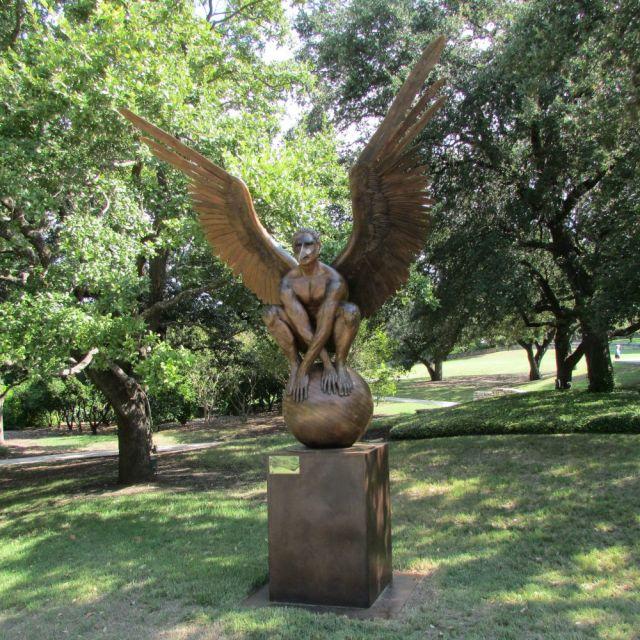 Archivaldo by Jorge Marín - Wings of the City at the San Antonio Botanical Garden | San Antonio Charter Moms