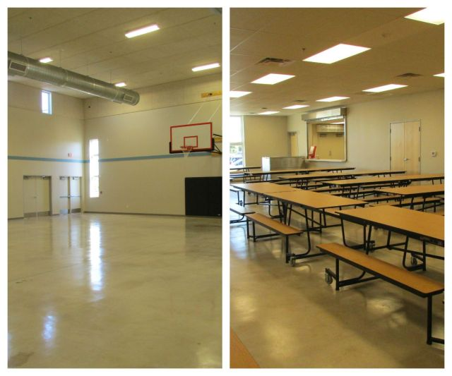Gym and cafeteria at Carpe Diem Westwood | San Antonio Charter Moms