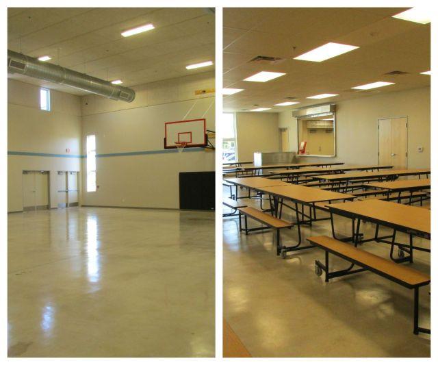 Gym and cafeteria at Carpe Diem Westwood | San Antonio Charter Moms