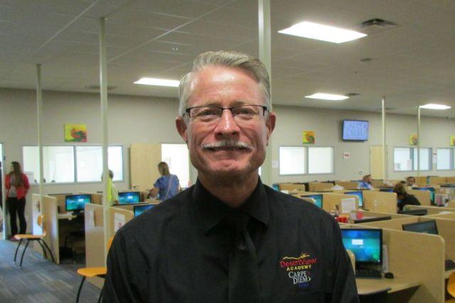 Rick Ogston, founder of Carpe Diem schools, visiting Carpe Diem Westwood   San Antonio Charter Moms