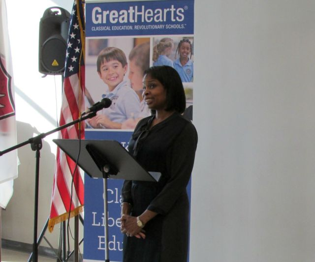 Mayor Ivy Taylor at Great Hearts Northern Oaks ribbon-cutting ceremony | San Antonio Charter Moms
