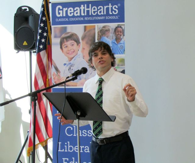 David Williams, Executive Director, Great Hearts San Antonio, at Great Hearts Northern Oaks ribbon-cutting ceremony | San Antonio Charter Moms