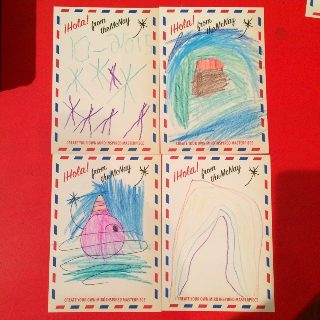 "Miró-inspired postcards at ""Miró: The Experience of Seeing"" at the McNay Art Museum 