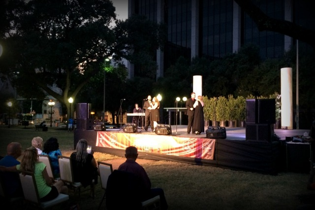 Opera in the Park with Opera Piccola of San Antonio in Travis Park in San Antonio, Texas | San Antonio Charter Moms