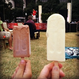 Pop'topia popsicles at Travis Park | San Antonio Charter Moms