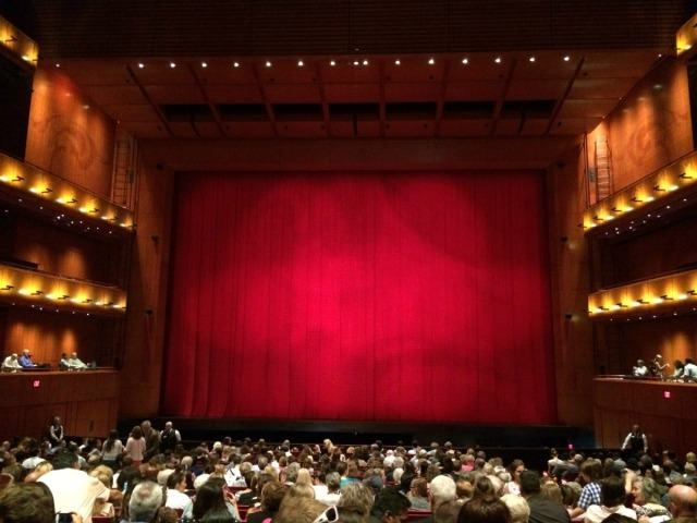 Curtain at the Tobin Center before Ballet San Antonio's Swan Lake | San Antonio Charter Moms