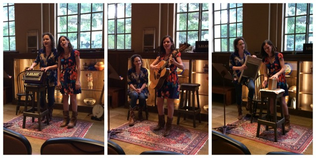 Blue Penny performing American roots music at the Briscoe Western Art Museum, June 30, 2015 | San Antonio Charter Moms